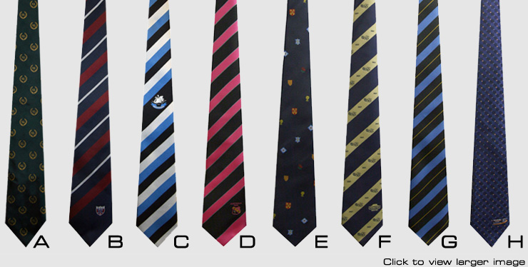 Selection of our Club ties and Company ties